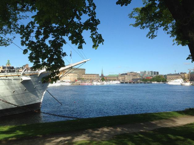 Sommarfest på Skeppsholmen i Stockholm